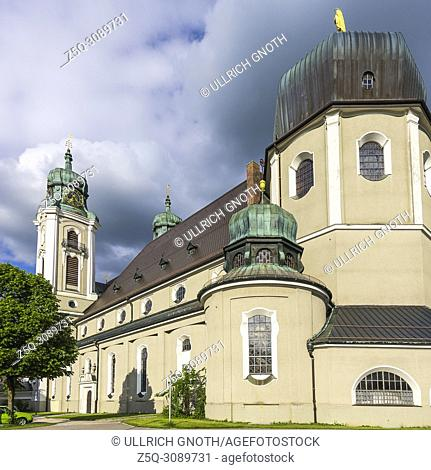 Parish church St. Peter and Paul in Lindenberg in the Allgaeu, Bavaria, Germany