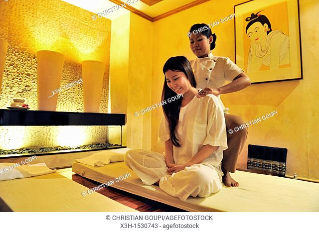 Thai massage, spa of the Bangkok Mariott Resort & Spa, Bangkok, Thailand, Asia