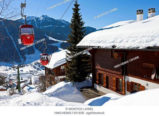Switzerland, Canton of Vaud, Ormont Dessus, Les Diablerets
