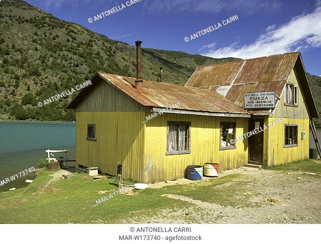 chile, patagonia, rio baker, puerto bertrand, warehouse
