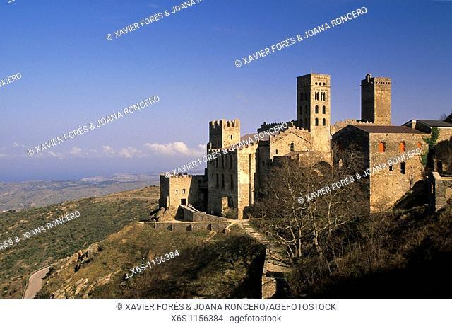 Monastery of Sant Pere de Rodes, Cabo de Creus, Natural Park of Cap de Creus, Alt Empordà, Girona, Spain