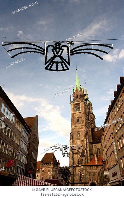 Germany, Nurnberg, market square