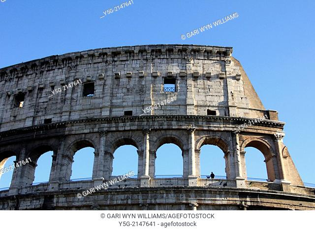 The colisseum in Rome Italy