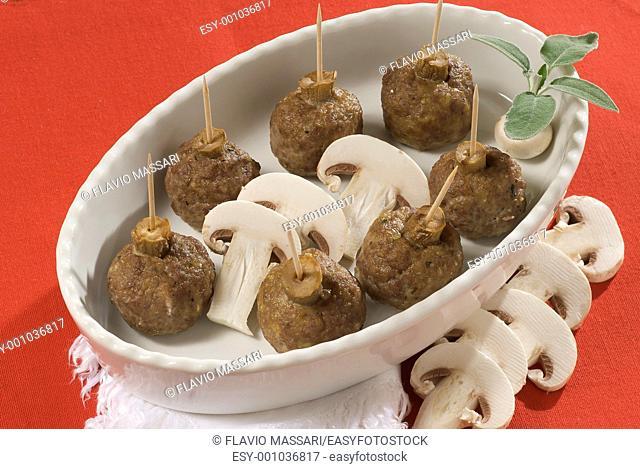 mushrooms meatballs