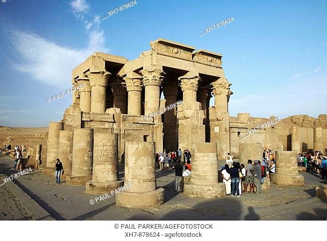 Kom Ombo Temple on the bank of the River Nile, Egypt