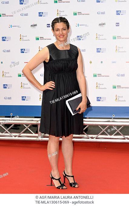 Ginevra Elkann during the red carpet of David di Donatello Awards, Rome, 12/06/2015