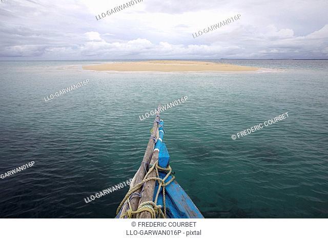 Fishing boat at sea off Ibo island, Quirimbas Islands, Mozambique