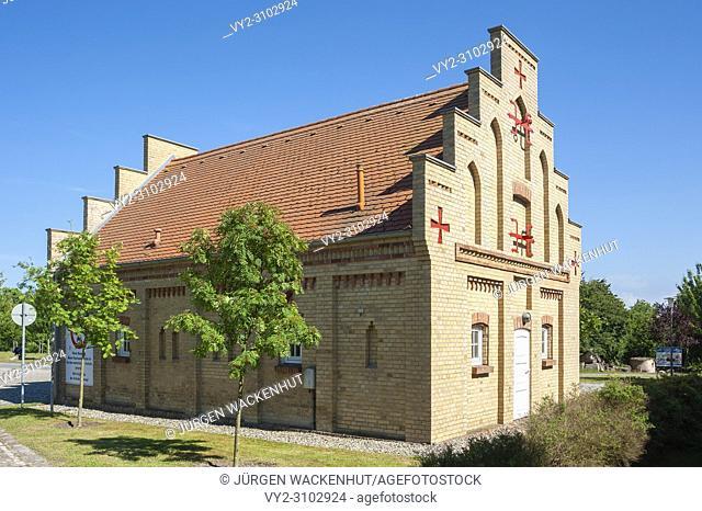 Building of the volunteer fire department Putgarten, Cape Arkona, Rügen, Mecklenburg-Vorpommern, Germany, Europe