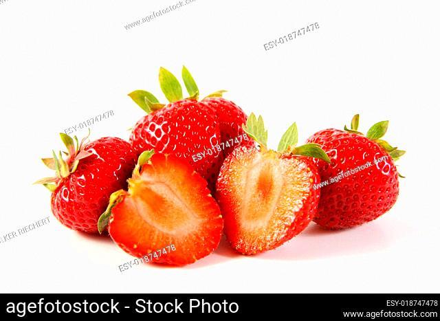 Erdbeerliebe - Erdbeeren freigestellt