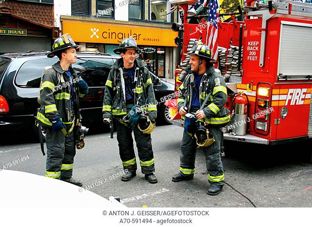 Firefighters. New York City. USA