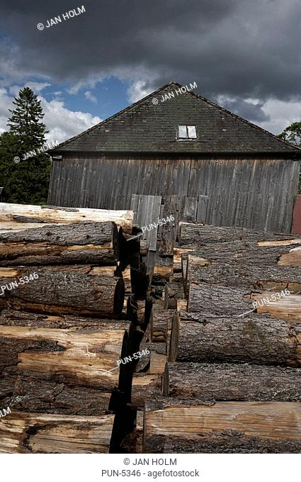 Historic wood working mill at Finzean