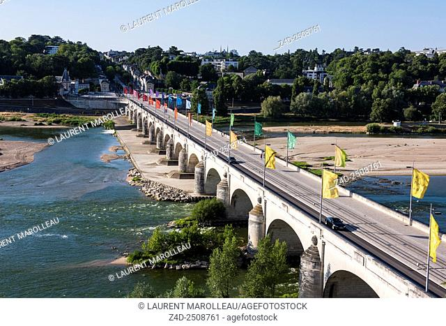 Wilson Bridge over Loire River. Tours, Indre et Loire, Loire Valley, France, Europe