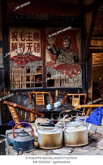 China, Sichuan province, Chengdu, old tea house