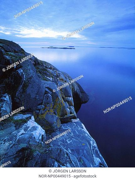 High angle view of the sea, Tjust, Smaland, Sweden