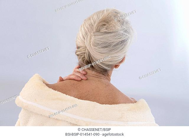 Senior woman with cervical pain