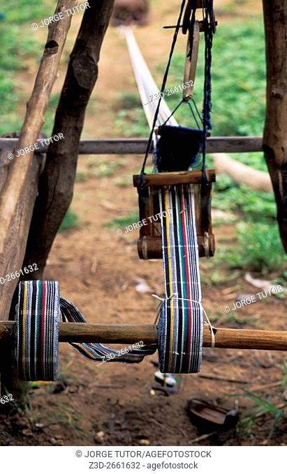 Weaving of Fugu in Daboya, a village in the West Gonja district, a district in the Northern Region of north Ghana