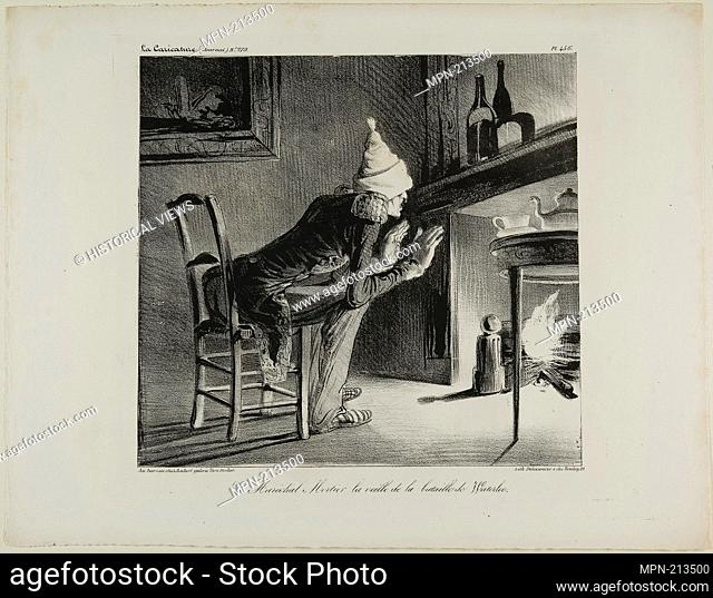 General Mortier, the evening before the battle of Waterloo, plate 456 - 1835 - Honoré Victorin Daumier French, 1808-1879 - Artist: Honoré-Victorin Daumier