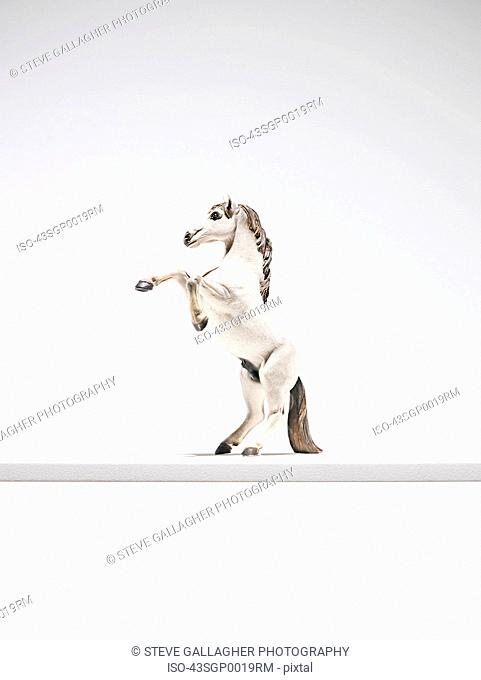 Close up of horse figurine