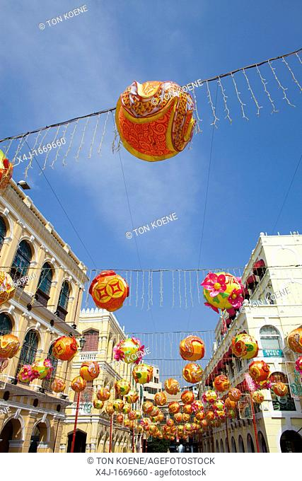 decorations during Chinese new year in Macau, China