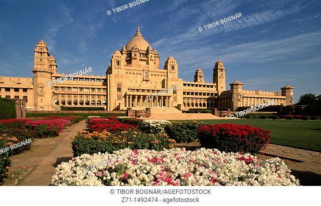India, Rajasthan, Jodhpur, Umaid Bhawan Palace, luxury hotel
