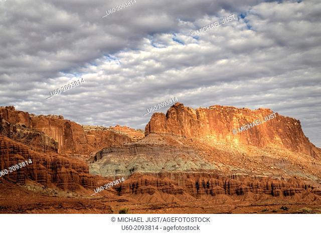 Unusual Skies and Rock Formations at Capital Reef National Park, Utah