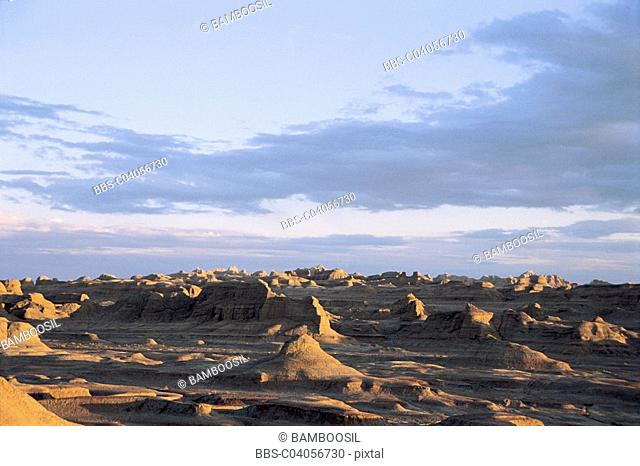 Wuerhe Ghost City Windy City, Kelamayi County, Xinjiang Uygur Autonomous Region of People's Republic of China