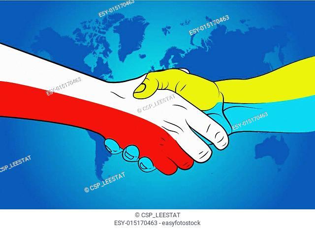 Handshake Poland and Ukraine
