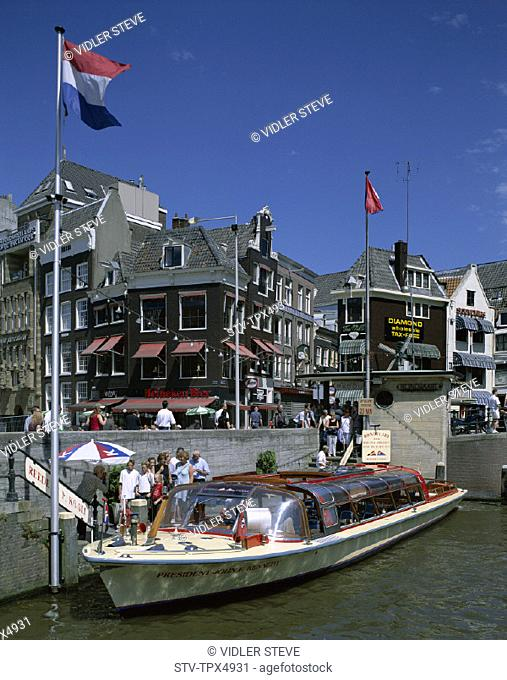 Amsterdam, Boats, Canal, Holiday, Holland, Europe, Landmark, Netherlands, Tour, Tourism, Travel, Vacation