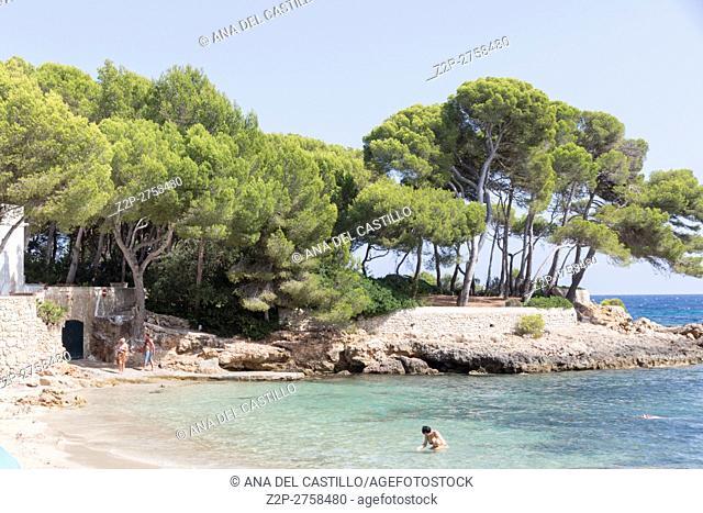 Coast in Majorca island Balearic islands on August 2016 in Spain