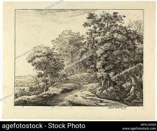 Two Men in the Hollow - Anthoni Waterlo Dutch, 1609-1690 - Artist: Anthonie Waterloo, Origin: Holland, Date: 1630–1690, Medium: Etching on paper