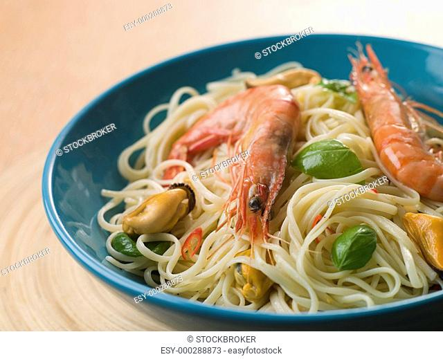 Bowl of Shellfish Linguine