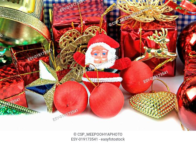 Santa doll and Accessory decorations of Christmas day