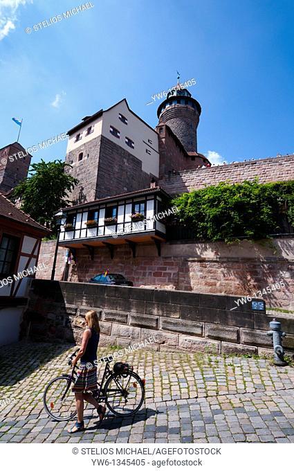 Kaiserburg Castle in Nuremberg,Germany