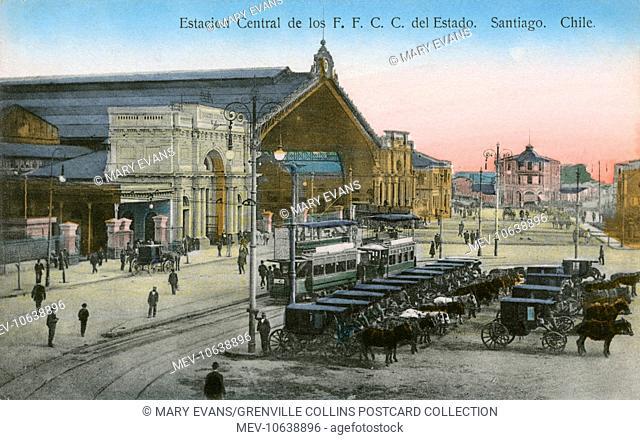Central Station (Estacion Central de los F. F. C. C. del Estado) - Santiago, Chile