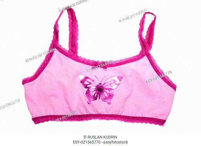 Bra with pattern butterfly