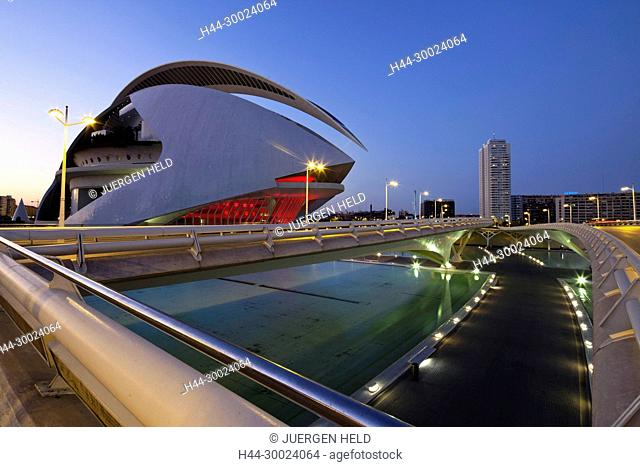 The Palau de les Arts Reina Sofia by Calatrava, , Valencia, Spain