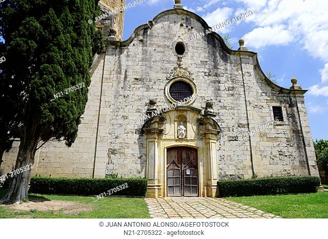 Sant Genis Church. Monells, Girona, Catalonia, Spain, Europe