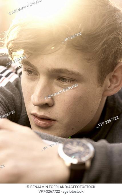 young model man, in Hamburg, Germany