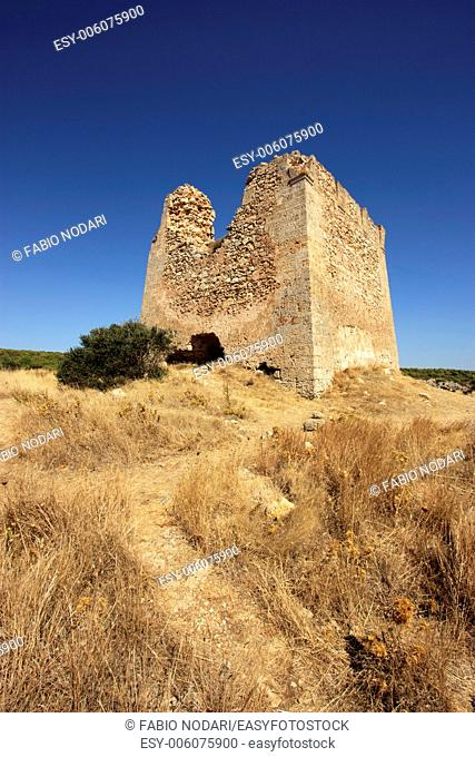 Ruins of an old watchtower in Apulia, Italy