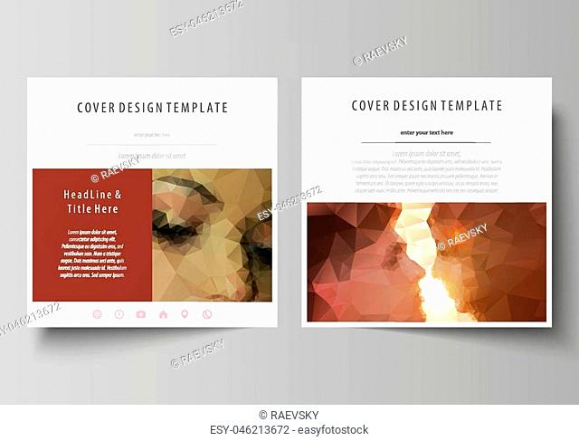 Business templates for square design brochure, magazine, flyer, booklet or annual report. Leaflet cover, abstract flat layout, easy editable vector