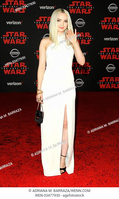 """Star Wars: The Last Jedi"" Premiere held at the Shrine Auditorium in Los Angeles, California. Featuring: Dove Cameron Where: Los Angeles, California"