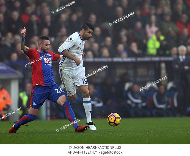 2016 Premier League Football Crystal Palace v Chelsea Dec 17th. 17.12.2016. Selhurst Park, London, England. Premier League Football