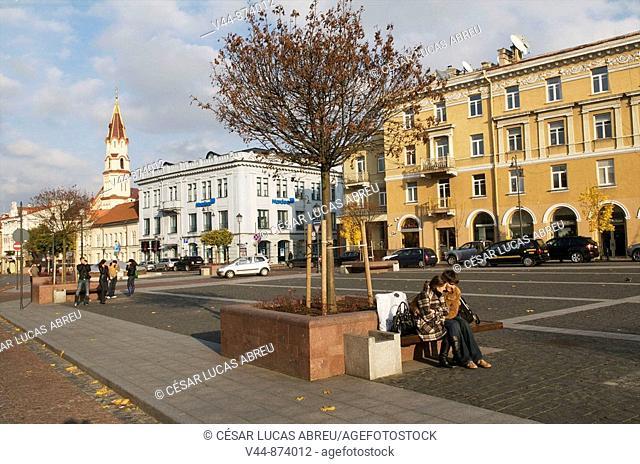 Town Hall Square, Vilnius, Lithuania