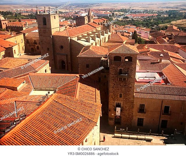 The medieval city of Caceres, Extremadura, Spain