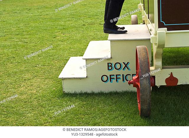 Box office of small country circus, Oxfordshire, England