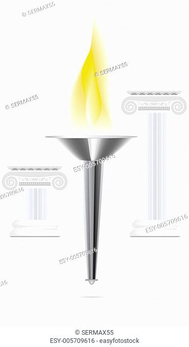 Olympic torch with flame