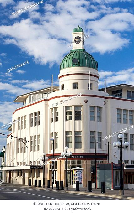 New Zealand, North Island, Hawkes Bay, Napier, art-deco architecture, the T&G Building, 1936