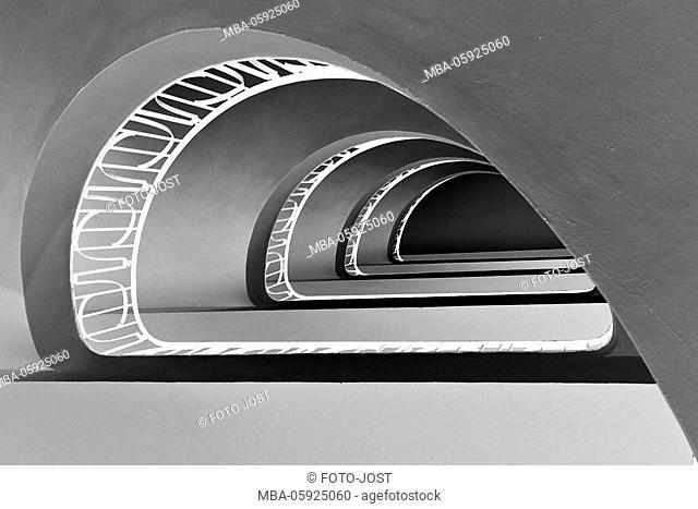 stairwell, houses of Munich, digitally arranged
