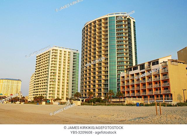 Beachfront condos line the Grand Strand of Myrtle Beach