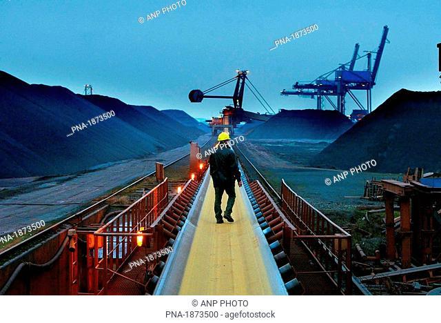 Dockworker in the Rotterdam harbour